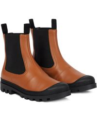 Loewe Leather Chelsea Boots - Black