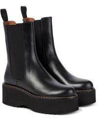 Paris Texas Exclusive To Mytheresa – Leather Platform Chelsea Boots - Black