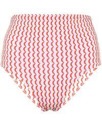 Asceno Culotte de bikini Deia imprimée - Rouge