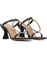 JW Anderson Embellished Leather Sandals - Black