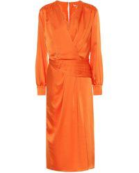 Jonathan Simkhai Satin Maxi Dress - Orange