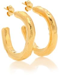 Alighieri The Etruscan Reminder 24kt Gold-plated Hoop Earrings - Yellow