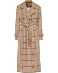 Giuliva Heritage Collection The Christie Checked Wool Trench Coat - Natural