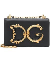 Dolce & Gabbana Dg Girls Leather Shoulder Bag - Black
