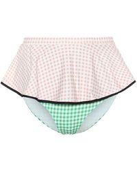 Marysia Swim Esclusiva per Mytheresa - Slip bikini Piana a vita alta - Multicolore