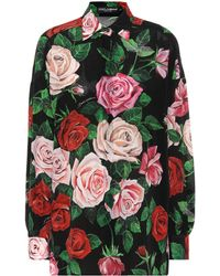Dolce & Gabbana Floral-printed Silk Shirt - Multicolor