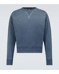 RRL Sweatshirt aus Baumwolle - Blau