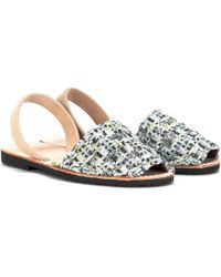 Del Rio London - Exclusive To Mytheresa. Com – Tweed Sandals - Lyst