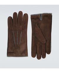 Loro Piana Handschuhe aus Veloursleder - Braun
