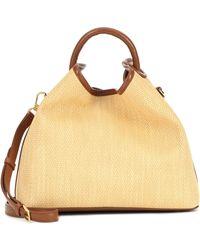 Elleme Raisin Raffia Shoulder Bag - Yellow