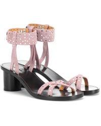 Isabel Marant Joakee Suede Sandals - Purple
