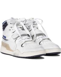 Isabel Marant Alsee Leather High-top Trainers - White