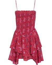 Étoile Isabel Marant Minikleid Anka aus Baumwolle - Rot