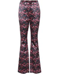 Huishan Zhang - Ivy Silk Satin Trousers - Lyst