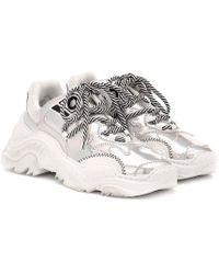 N°21 Sneakers Billy in pelle metallizzata - Metallizzato