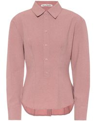 Acne Studios Buttoned-back Shirt - Pink