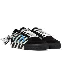 Off-White c/o Virgil Abloh Esclusiva Mytheresa - Sneakers Low Vulcanized in suede - Nero