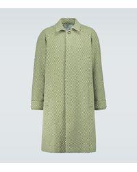 King & Tuckfield Abrigo de lana raglán espigado - Verde