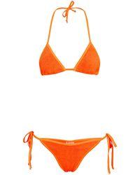 Hunza G Bikini Carmen triangular - Naranja