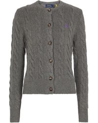 Polo Ralph Lauren Wool And Cashmere Cardigan - Grey