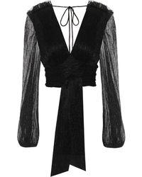 Rebecca Vallance Luna Wrap Blouse - Black