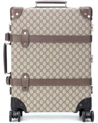 Gucci Globe-trotter Gg Medium Suitcase - Natural
