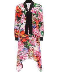 Mary Katrantzou - Vestido de seda Hearts con estampado floral - Lyst