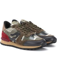 Valentino Rockrunner Camouflage Sneakers - Green