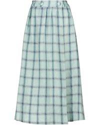 Lisa Marie Fernandez Double Breasted Maxi Wrap Skirt - Green