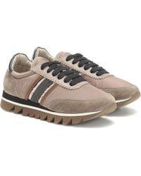 Brunello Cucinelli Sneakers mit Veloursleder - Natur