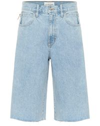 SLVRLAKE Denim High-rise Denim Shorts - Blue