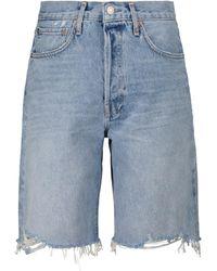 Agolde Mid-Rise Jeansshorts 90's - Blau