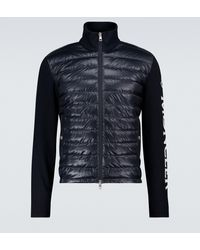Moncler Bi-fabric Tricot Cardigan - Blue