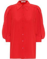 Givenchy Blouse en crêpe de soie - Rouge
