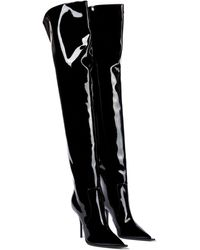 Dolce & Gabbana Cardinale Patent Leather Over-the-knee Boots - Black