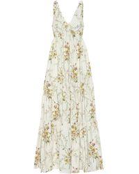 Brock Collection Robe longue Raiera en coton à fleurs - Multicolore