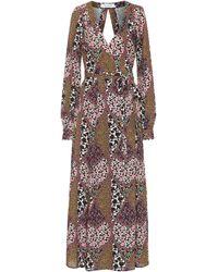 The Upside Kate Floral Maxi Wrap Dress - Multicolor