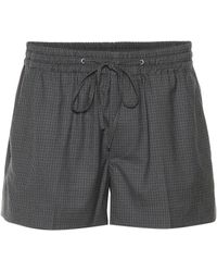 Miu Miu - Plaid Wool Shorts - Lyst