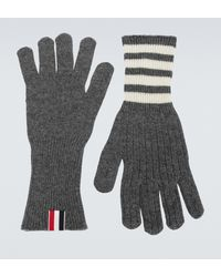 Thom Browne Cashmere Gloves - Gray