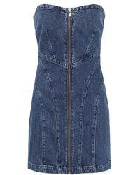 GRLFRND Isabella Zip-up Denim Minidress - Blue