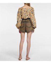Ulla Johnson Shorts Ares de algodón floral - Multicolor