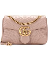 d8e3d3672f9 Gucci Gg Marmont Matelassé Leather Crossbody Bag in Pink - Lyst