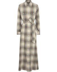 Polo Ralph Lauren Vestido largo en mezcla de lana - Gris