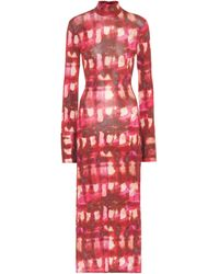 Ellery Seychelles Printed Midi Dress - Red