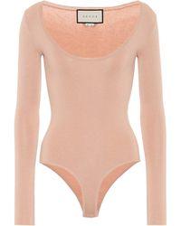 Gucci - Cashmere And Silk-blend Bodysuit - Lyst
