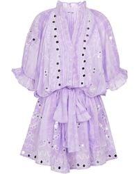 Juliet Dunn Exclusive To Mytheresa – Sequined Cotton Minidress - Purple