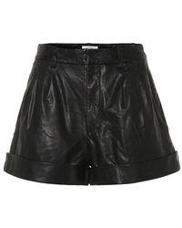 Étoile Isabel Marant Shorts Abot in pelle - Nero
