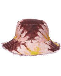 Zimmermann Chapeau bob en lin tie-dye - Rose