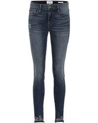 FRAME Jeanne Front Chew Skinny Jeans - Blue