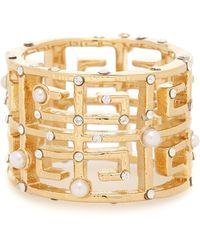 Givenchy 4g Embellished Ring - Metallic